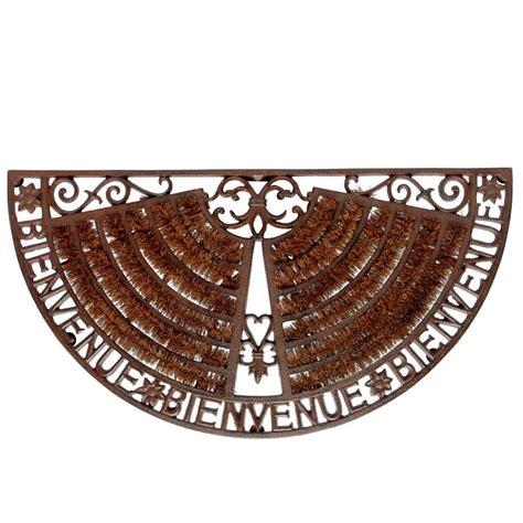 zerbino welcome zerbino marrone in ferro battuto 37 x 70 cm welcome