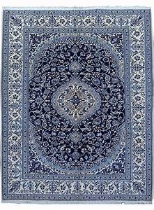 tapis noue main nain bleu de la collection unamourdetapis With tapis persan avec canapé d angle dimension