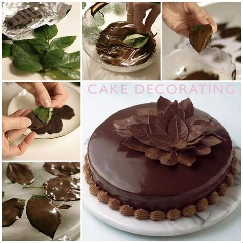 Cake Decoration Ideas With Chocolate by Amazing Chocolate Leaves Cake Decoration Idea