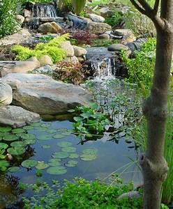 Chute Deau Bassin De Jardin