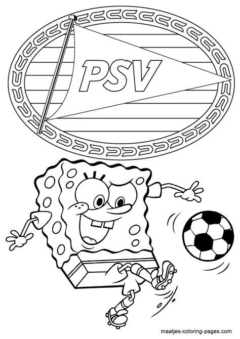 Psv Logo Kleurplaat by Voetbal Kleurplaten Eredivisie Clubs Nederland