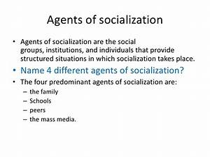 different agents of socialization