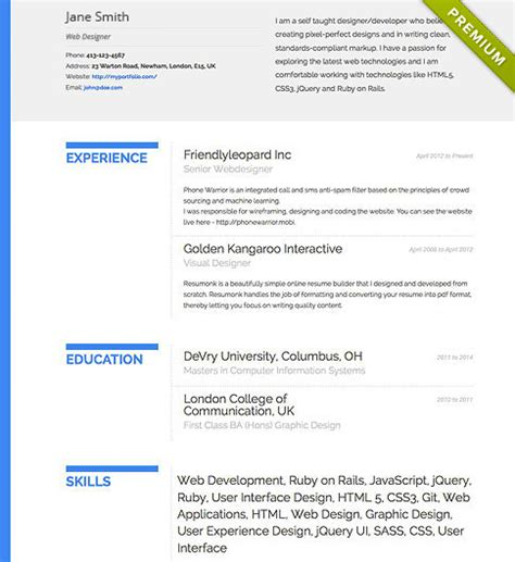 Attractive Resume Format Free by Resume Builder Templates Cv Maker Resumonk