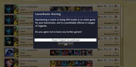 leaver buster   reason