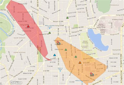 power restored  outage reported  columbia heights