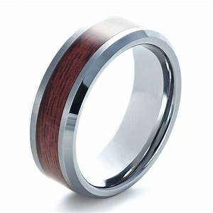 men39s tungsten and wood inlay ring 1339 With mens wedding rings wood inlay