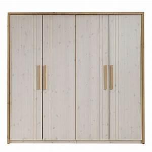 Kleiderschrank Kiefer 4 Türig : kleiderschrank nea 4 t rig kiefer massivholz breite 169cm ~ Markanthonyermac.com Haus und Dekorationen