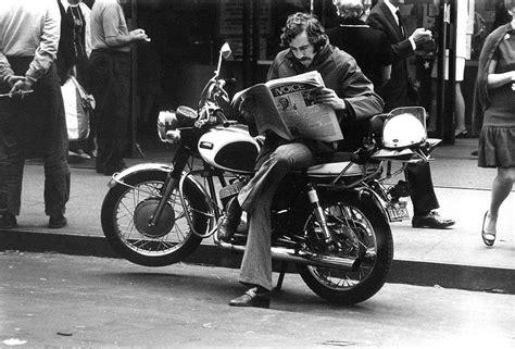 york city  photographs   man  motorcycle