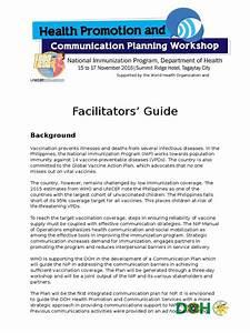 Communication Planning Workshop For The Doh Nip