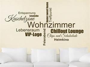 Wandtattoo Für Wohnzimmer : wandtattoo wohnzimmer wortwolke von ~ Buech-reservation.com Haus und Dekorationen