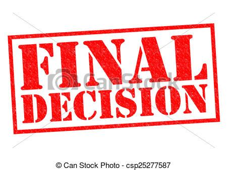 Final Decision Red Rubber Stamp Over A White Background