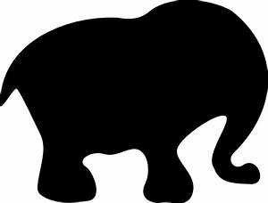 Cute Baby Elephant Silhouette