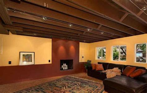 cheap unfinished basement ceiling ideas best unfinished