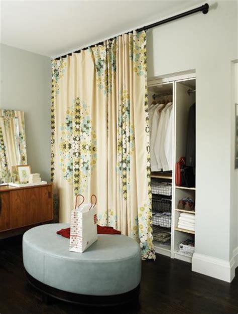 closet curtains open spaces feng shui