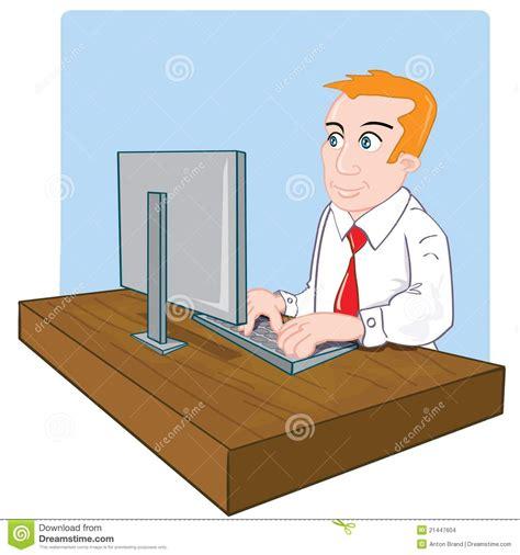 employe de bureau employé de bureau de dessin animé à bureau images