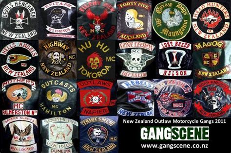 New Zealand Gangs Chapter Patches