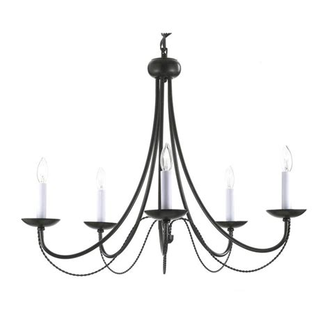gallery versailles 5 light black wrought iron chandelier