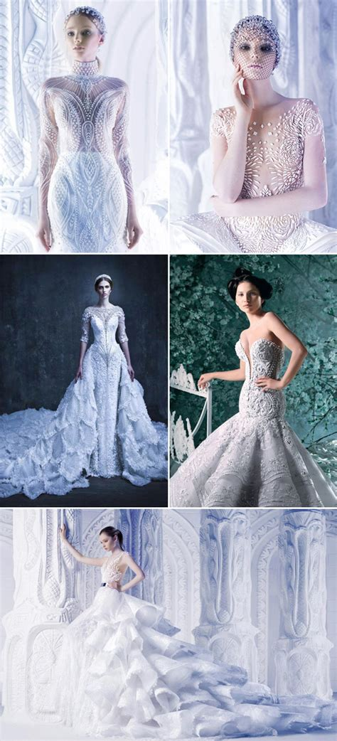stunning cutting edge futuristic wedding gowns praise