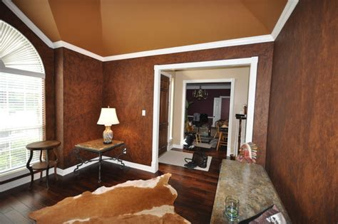 paint finish for living room leather faux finish traditional living room other metro by fresh coat painters of allen