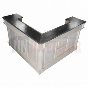 Meuble Bar Angle : grand bar d 39 angle de 180cm avec retour pin massif zinc ~ Melissatoandfro.com Idées de Décoration