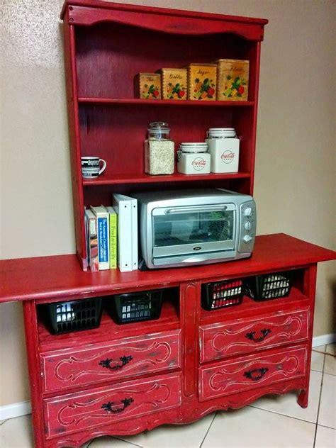 remake of an dresser into a kitchen hutch furniture