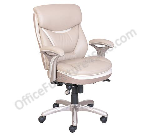 Serta Managers Chair 44334 by Serta Outlet Smart Layers Verona Manager Chair Ivory