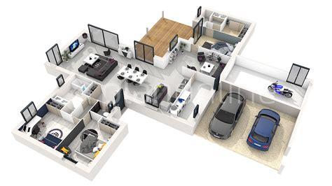 plan de chambre 3d plan de maison gratuit 4 chambres 6 3d 360176 plan 3d