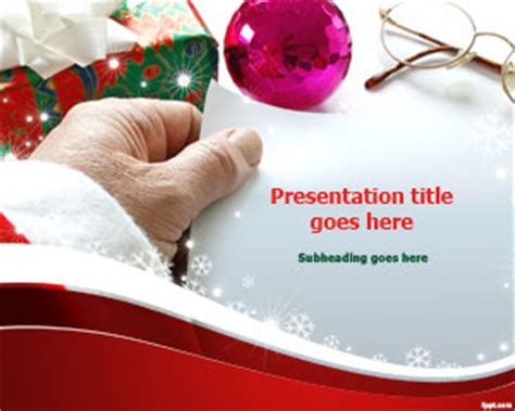 santa claus gift list powerpoint template