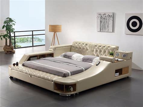 Soft Beds by Genuine Leather Bed Frame Soft Beds Massager Storage Safe