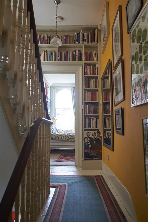 yellow hallway  design ideas remodel  decor