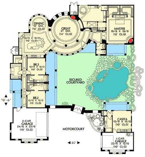 plan md courtyard plan  guest casita pantry