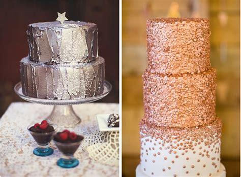 metallic cakes   winter wedding lake tahoe
