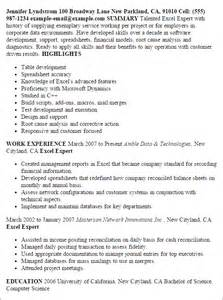 advanced excel resume sle professional excel expert templates to showcase your talent myperfectresume