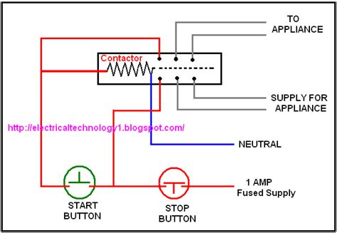 Electrical Lighting Contactor Wiring Diagram by Working Of Contactor A Simple Circuit Diagram