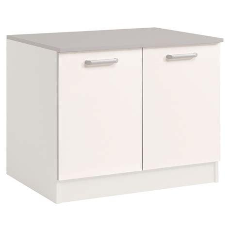 meuble bas de cuisine meuble bas de cuisine contemporain 120 cm 2 portes blanc