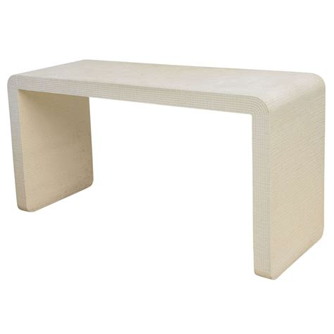 modern white table l an american modern white murano linen quot waterfall quot console