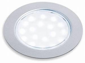 "Hafele 830 64 261 Sunny LED 2 5"" Round Puck Recessed Mount"