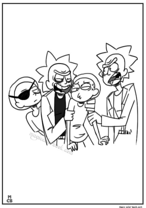 rick morty coloring pages  rick  morty rick