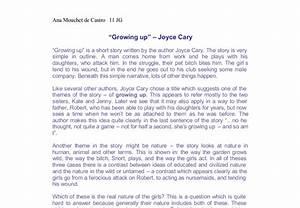 growing up essay