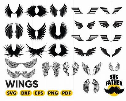 Wings Angel Silhouette Wing Svg Clipart Dxf