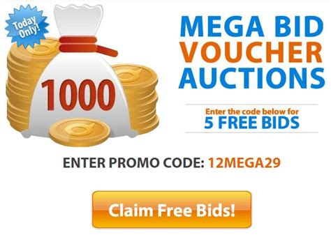 Mega Bid Vouchers On Quibids