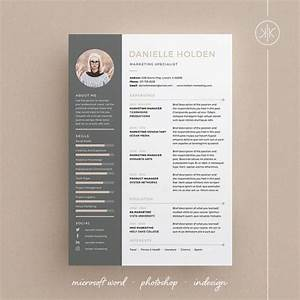 danielle resume cv template word photoshop indesign With indesign resume template free download