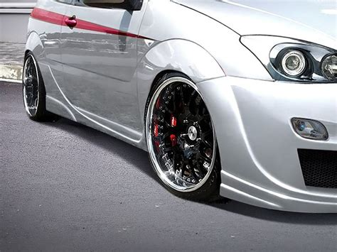 ford focus i 3 door hb racer side skirts focus mk1 bpp tuning
