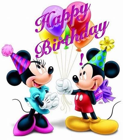 Minnie Mickey Birthday Happy Mouse Disney Clipart