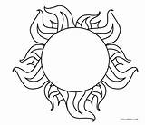 Sun Coloring Printable Cool2bkids sketch template