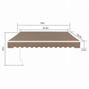 Sunsetter Motorized Retractable Awning  18 X 10 Ft Outdoor