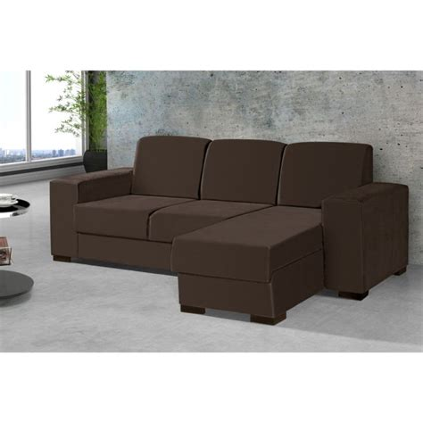 sofá 3 lugares suede chaise sof 225 3 lugares chaise astro suede marrom