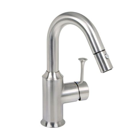 Bar Faucet With Sprayer by American Standard Pekoe Single Handle Pull Sprayer