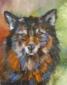 Abstract Wolf Painting Art