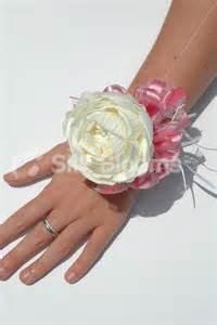 wristlet corsage stunning large ivory peony wedding wrist corsage stunning